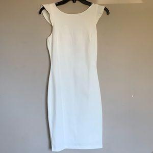 New Lulus ivory v-back midi dress.
